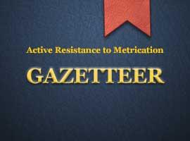 Gazetteer of A.R.M. actions