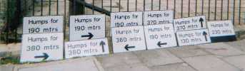 Illegal signs erected by the London Borough of Islington in the 1990's
