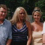 Left to right: the Late Steve Thoburn (1964-2004), his wife, Leigh Thoburn, the wife of Neil Herron and Neil Herron, the Director of the Metric Martyrs campaign, at the House of Commons  June 2000.