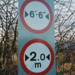 An illegal metric sign