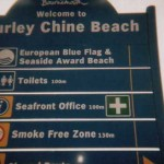 Illegal metric signs on Bournemouth promenade before they were amended by ARM.