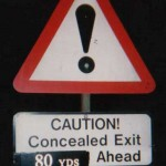 An illegal metric sign at Kiby-le-Soken, Essex, after being amended by ARM.