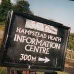 Hampstead Heath, London, where ARM amended a sign in metres to make it more intelligable to the public.  In a survey in 2004, 98% of British people sia dthey understood distances in miles and yards, but only 29% understood the metric distances.
